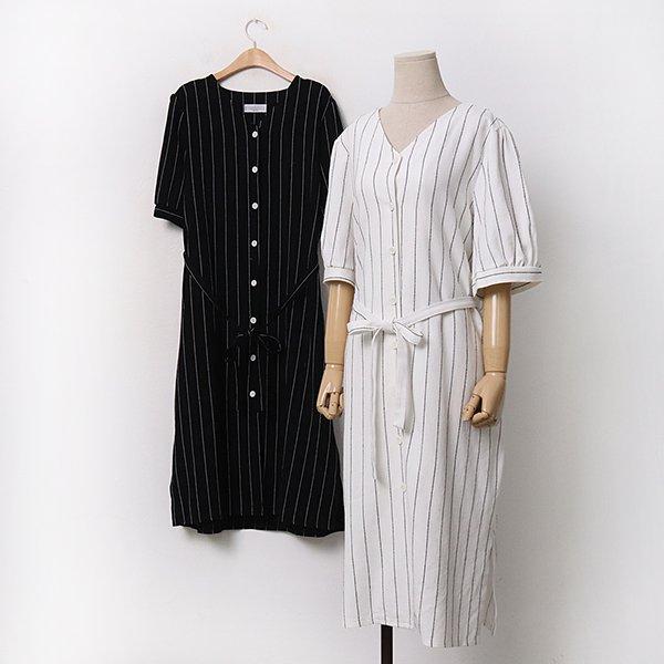 빅사이즈 브이줄지벨트원피스 DL9509M005 도매 배송대행 미시옷 임부복