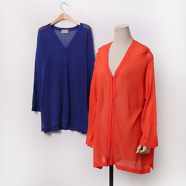 빅사이즈 썸머니트A롱가디건 RM9510M005 도매 배송대행 미시옷 임부복