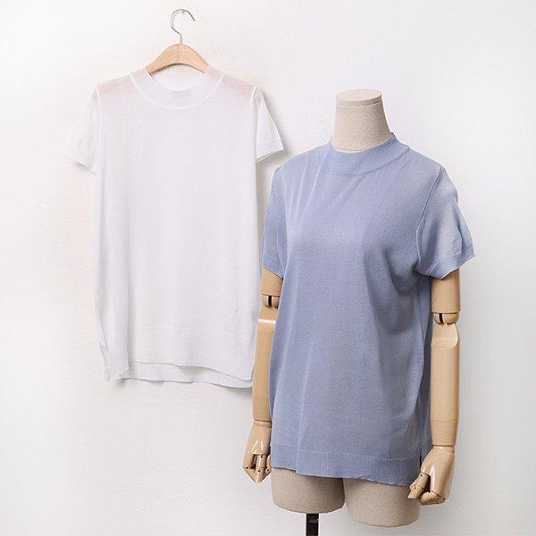 빅사이즈 반하이넥썸머니트티 AP9520M005 도매 배송대행 미시옷 임부복