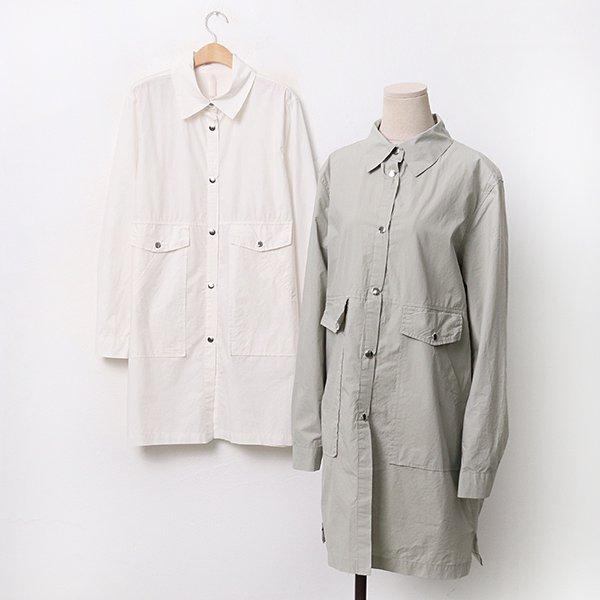 빅사이즈 사각포켓면사파리 BN9525M005 도매 배송대행 미시옷 임부복