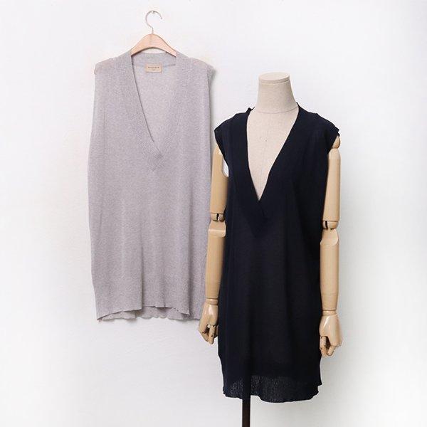 빅사이즈 썸머루즈니트롱조끼 RMA015M006 도매 배송대행 미시옷 임부복