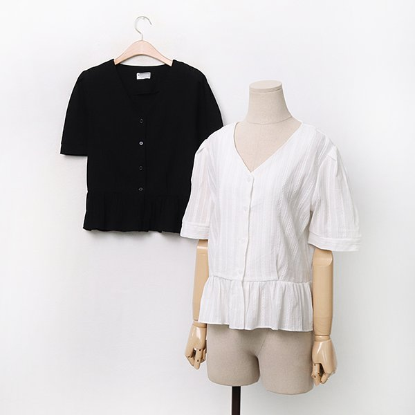 빅사이즈 앤틱V자수블라우스 MOA030M006 도매 배송대행 미시옷 임부복