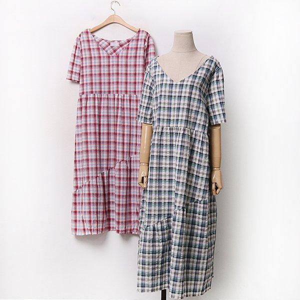 빅사이즈 프리사선절개원피스 CHA050M006 도매 배송대행 미시옷 임부복