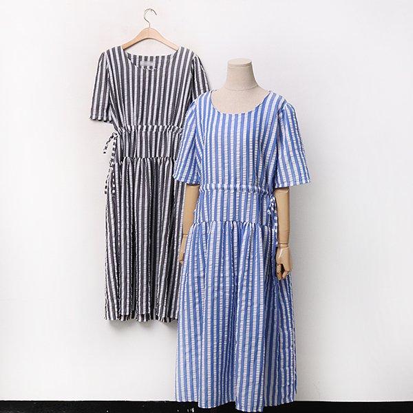 빅사이즈 엠보스트링줄원피스 YPA051M006 도매 배송대행 미시옷 임부복