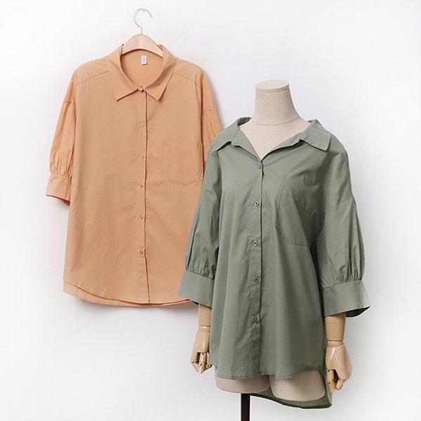코튼면퍼프5부셔츠 DLTA061 도매 배송대행 미시옷 임부복