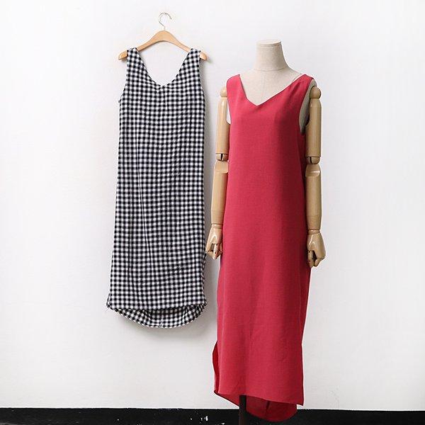 백리본심플나시원피스 DLTA062 도매 배송대행 미시옷 임부복