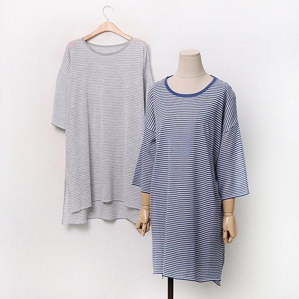 잔줄가라썸머롱니트 EBA075M006 도매 배송대행 미시옷 임부복