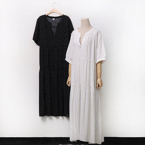 007 패턴도트루즈롱원피스 DCHA079 도매 배송대행 미시옷 임부복
