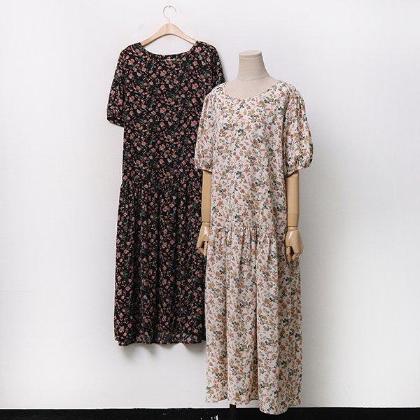 |007 꽃패턴퍼프롱원피스 DAYA091 도매 배송대행 미시옷 임부복