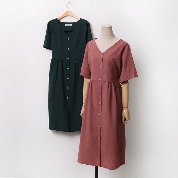 |007 셔링린넨반팔원피스 DPEA092 도매 배송대행 미시옷 임부복