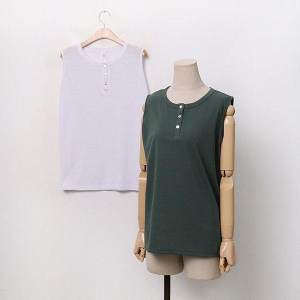 |007 라운드버튼민소매티 DGOA127 도매 배송대행 미시옷 임부복