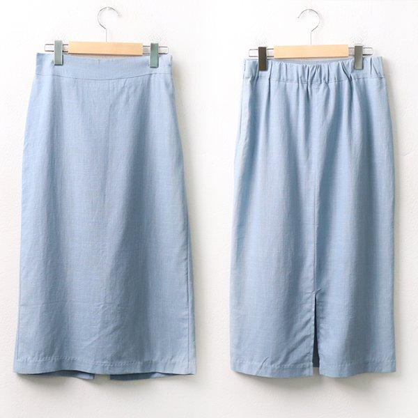 007 무지린넨썸머롱스커트 DMOA156 도매 배송대행 미시옷 임부복