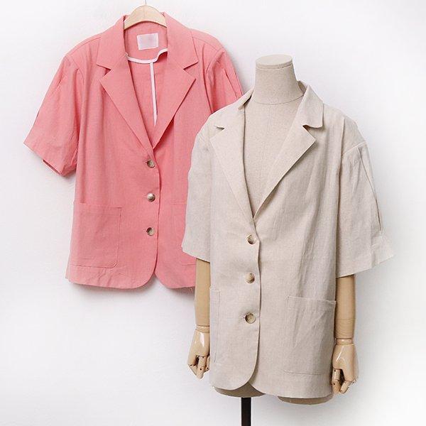 007 테일러드모던린넨자켓 DLTA169 도매 배송대행 미시옷 임부복