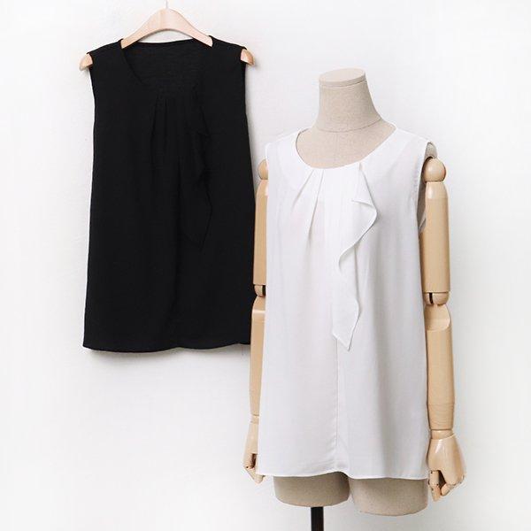 007 주름쉬폰나시블라우스 DBGA231 도매 배송대행 미시옷 임부복