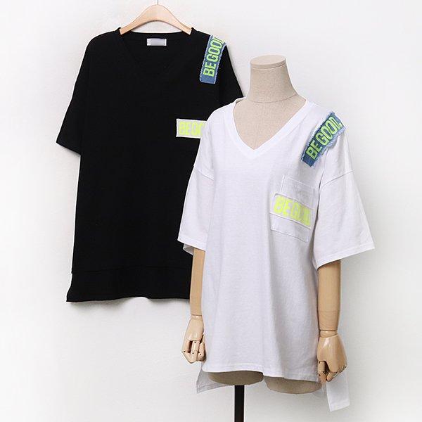 007 굿패치언발루즈반팔티 DDLA234 도매 배송대행 미시옷 임부복