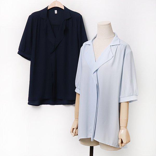 007 이중쉬폰카라블라우스 DPEA235 도매 배송대행 미시옷 임부복