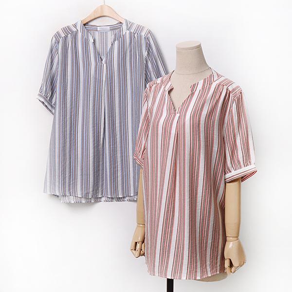 007 턱주름잔줄블라우스 DOLA236 도매 배송대행 미시옷 임부복