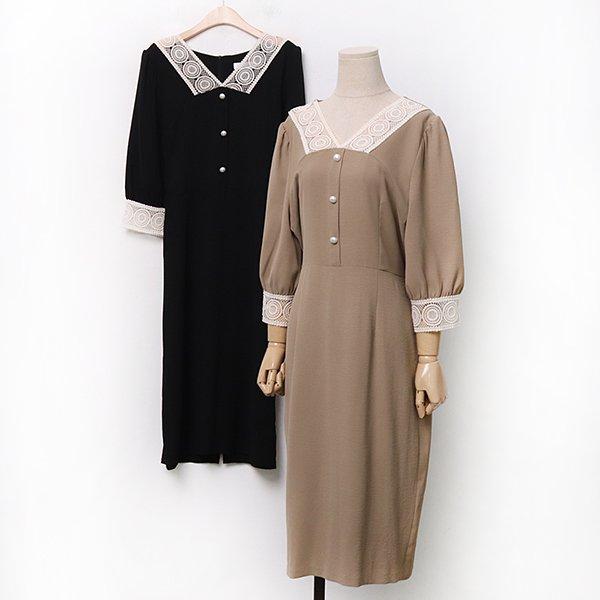 007 망사레이스쉬폰원피스 DIRA237 도매 배송대행 미시옷 임부복