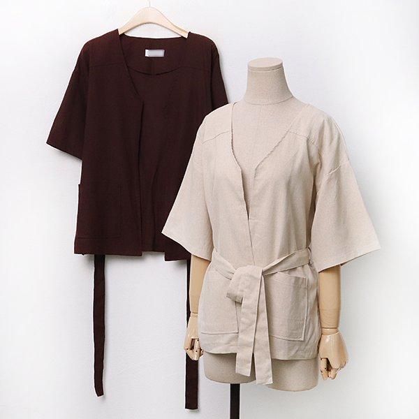 007 썸머린넨오픈로우자켓 DDLA240 도매 배송대행 미시옷 임부복