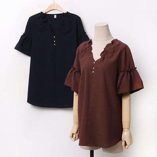 007 마담프릴이중블라우스 DDBA266 도매 배송대행 미시옷 임부복