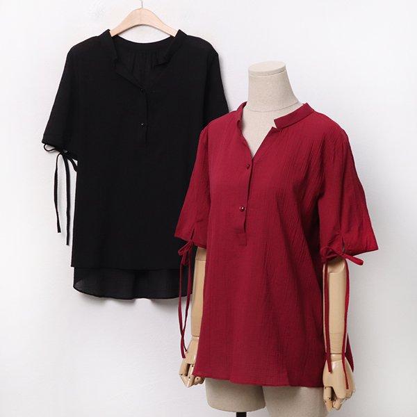 007 언발헨리브이리본셔츠 DBGA268 도매 배송대행 미시옷 임부복