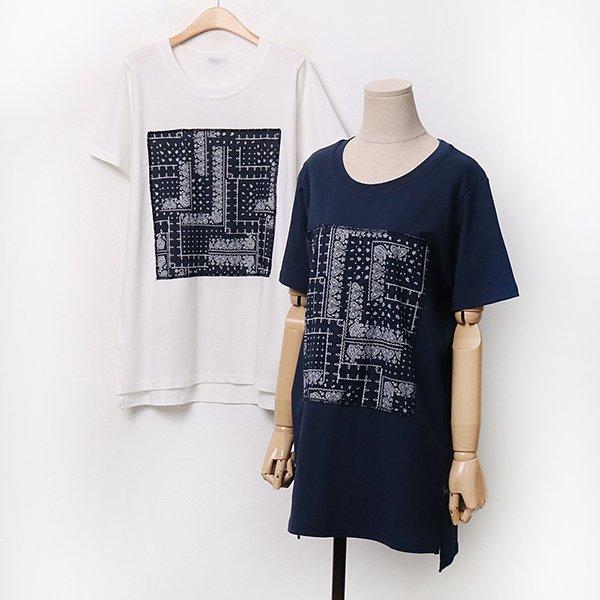 빅사이즈 007 앤틱패치언발롱티셔츠 DOLA287 도매 배송대행 미시옷 임부복