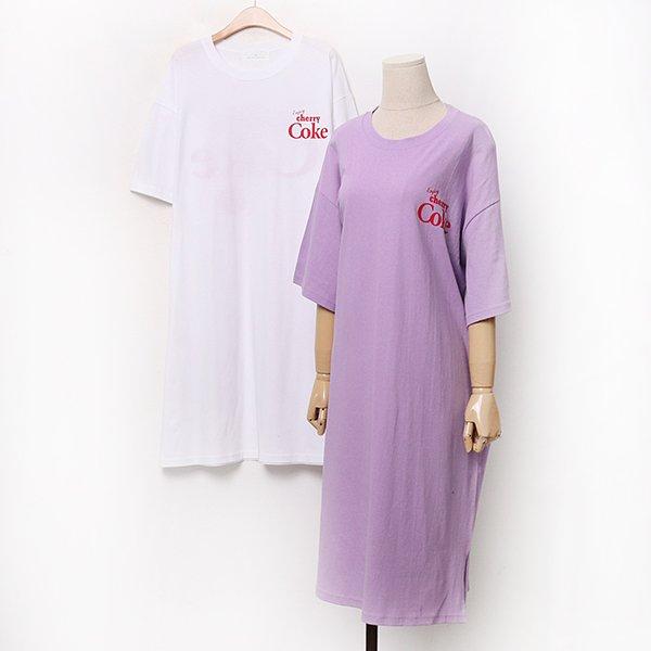 007 체리로고시보리원피스 DEZA306 도매 배송대행 미시옷 임부복