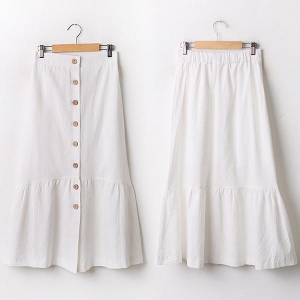 009 버튼롱플레어면스커트 DNNA783 도매 배송대행 미시옷 임부복