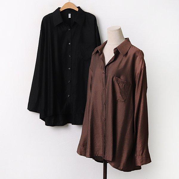 009 여유핏샤틴포켓남방 DLTA794 도매 배송대행 미시옷 임부복