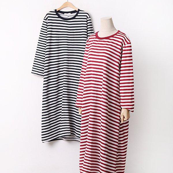 009 캐주얼줄지루즈원피스 DYBA811 도매 배송대행 미시옷 임부복