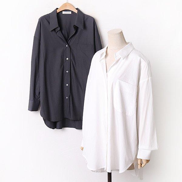 009 베이직오버언발롱셔츠 DPEA816 도매 배송대행 미시옷 임부복