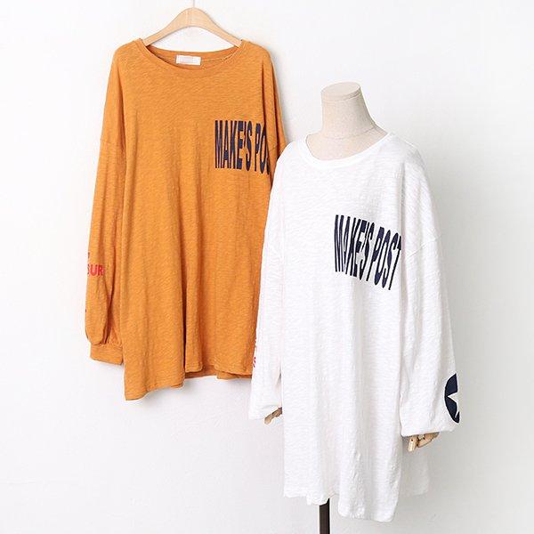 009 스트릿레터슬럽긴팔티 DKYA822 도매 배송대행 미시옷 임부복
