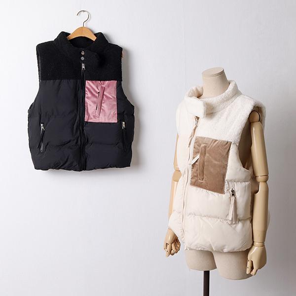 109 더블넥양패딩조끼 DSKA823 도매 배송대행 미시옷 임부복