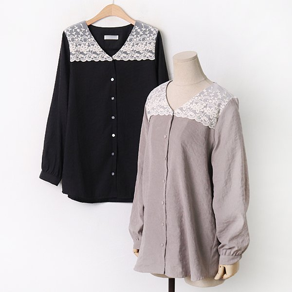 009 꽃망사벨벳블라우스 DDBA845 도매 배송대행 미시옷 임부복