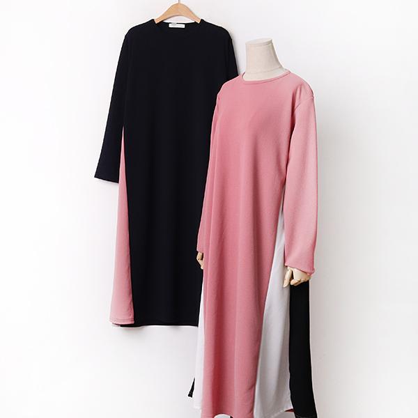 009 투배색롱플레어원피스 DYBA860 도매 배송대행 미시옷 임부복