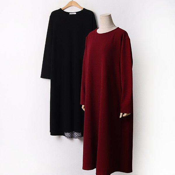 009 백체크사선루즈원피스 DYBA861 도매 배송대행 미시옷 임부복