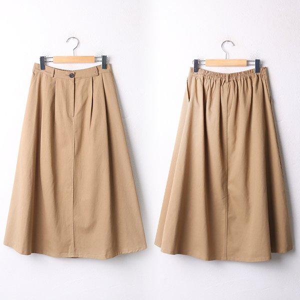 009 면밴딩롱플레어스커트 DCHA878 도매 배송대행 미시옷 임부복