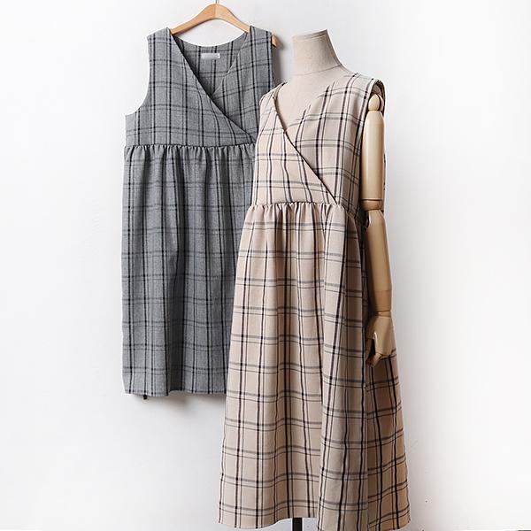 010 랩나시체크셔링원피스 DYPA974 도매 배송대행 미시옷 임부복