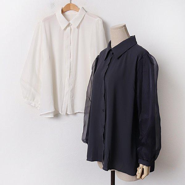 010 퍼프루즈쉬폰블라우스 DBNA998 도매 배송대행 미시옷 임부복