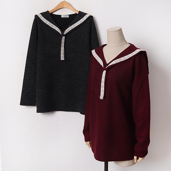011 앤틱무드레이스니트티 DBGB499 도매 배송대행 미시옷 임부복