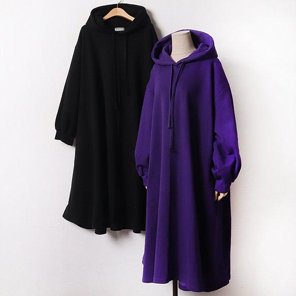 011 도톰플레어후드원피스 DRAB505 도매 배송대행 미시옷 임부복