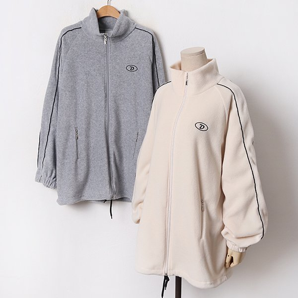 011 한줄파이핑플리스집업 DEZB520 도매 배송대행 미시옷 임부복
