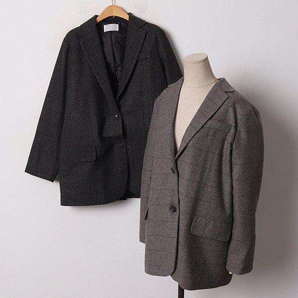 011 모던더블체크누빔자켓 DLYB533 도매 배송대행 미시옷 임부복