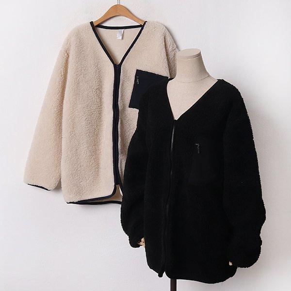 012 스퀘어덤블가디건집업 DGOB651 도매 배송대행 미시옷 임부복