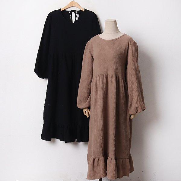 012 내추럴라운드넥원피스 DYPB675 도매 배송대행 미시옷 임부복