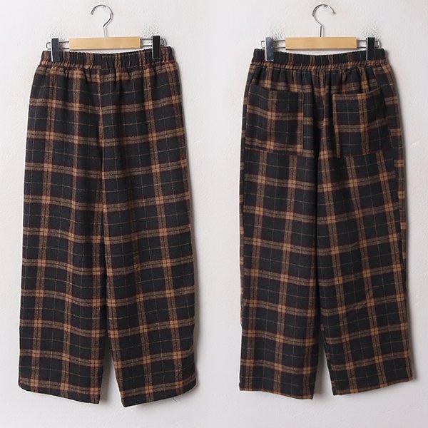 001 타탄체크와이드통바지 DCRB690 도매 배송대행 미시옷 임부복
