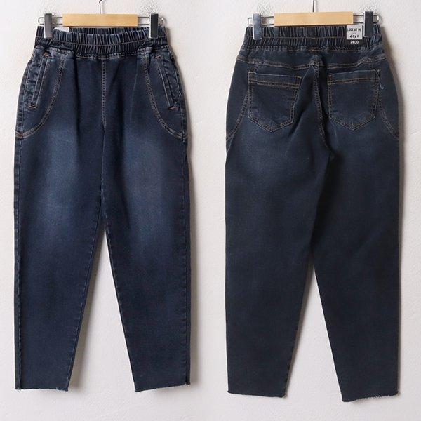 001 다크스티치배기핏팬츠 DLOB692 도매 배송대행 미시옷 임부복