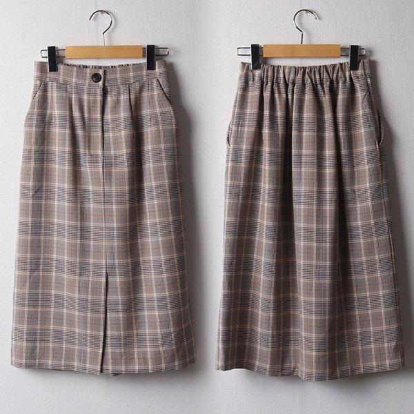 102 클래식밴딩체크스커트 DBRB899 도매 배송대행 미시옷 임부복