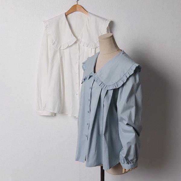102 풍성셔링퍼프블라우스 DCHB908 도매 배송대행 미시옷 임부복