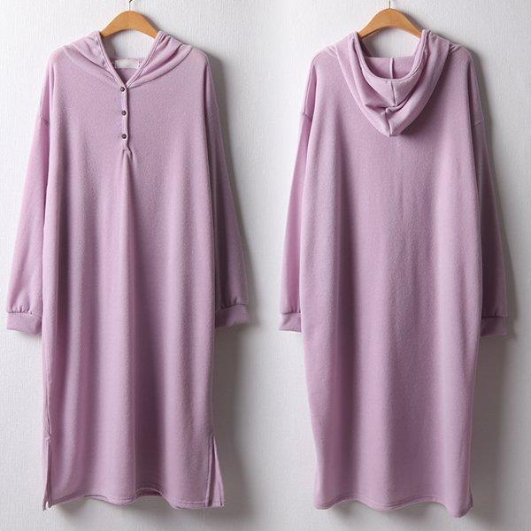 102 무지반오픈후드원피스 DKYB912 도매 배송대행 미시옷 임부복